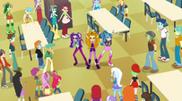 The Dazzlings sing to the students EG2