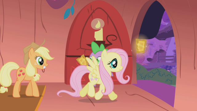 File:Fluttershy taking her ticket S01E03.png