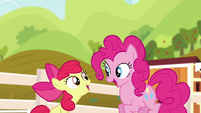 Pinkie Pie together with Apple Bloom S4E09