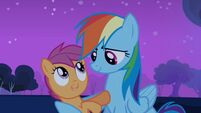 "Rainbow Dash and Scootaloo ""it's a deal"" S03E06"