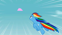 Rainbow Dash chasing the cloud S2E01