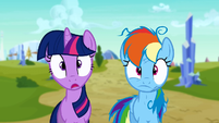 Twilight and Rainbow Dash complete shock S3E12
