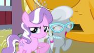 Diamond Tiara nudging Silver Spoon S3E4