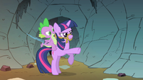 Twilight Sparkle being the steed for Spike S1E19