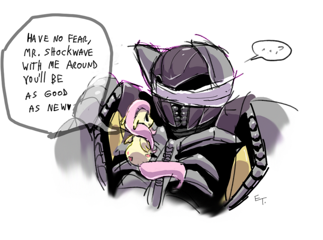 File:FANMADE Fluttershy and Shockwave.png