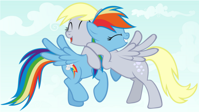 File:FANMADE Friendship is magic rainbow and derpy.png