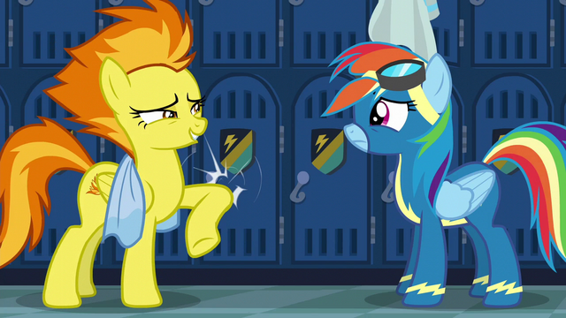 File:Spitfire hits a locker with her elbow S6E7.png
