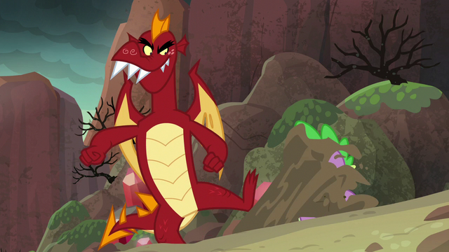File:Garble kicks dirt in Spike's face S6E5.png