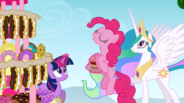 File:Pinkie Pie about to eat the cake S2E24.png