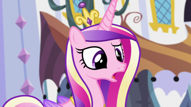 "File:Cadance ""are you sure she'd want you doing that?"" S5E10.png"