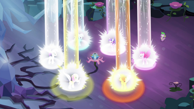 File:Mane 6 powered up S4E26.png