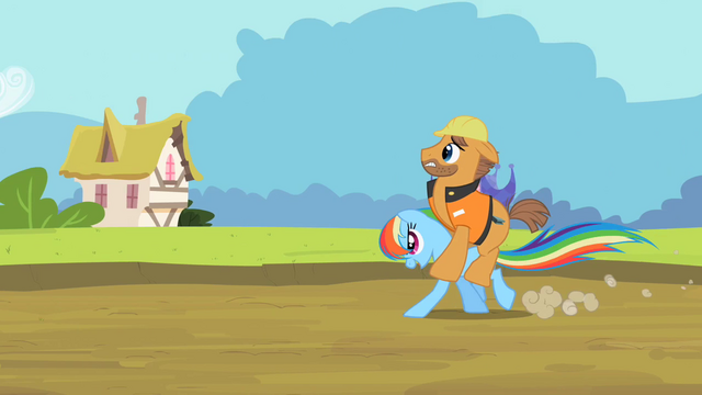 File:Rainbow Dash running while carrying construction worker S2E08.png