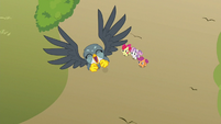 Gabby taking off into the sky S6E19