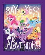 MLP The Movie Say Yes to Adventure! woven cotton fabric by Etsy