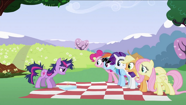 File:Twilight Sparkle's friends 'Yes' S2E03.png