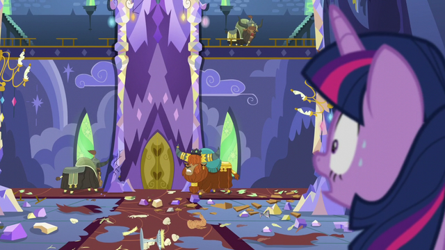 File:Twilight sees the yaks smashing castle property S5E11.png