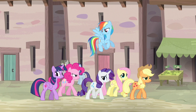 File:Mane Six continue through the village S5E1.png