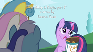 Twilight tells Lemon Hearts, Minuette, and Twinkleshine that she has to study S1E01
