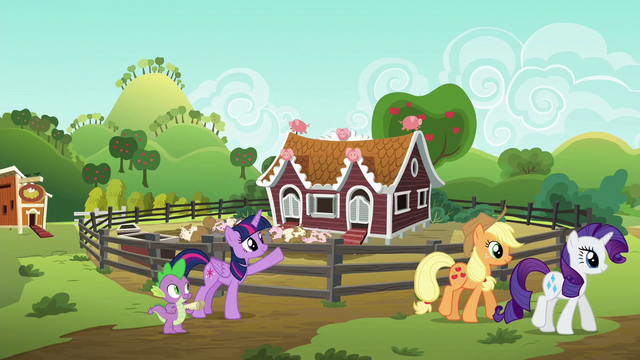 File:Twilight waves goodbye to Applejack and Rarity S6E10.png