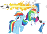 Rainbow dash and rainbow dash by hampshireukbrony