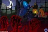Luna fighting the zombie ponies
