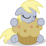 Filly Derpy with a muffin