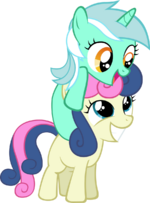 Filly Lyra and Bon Bon