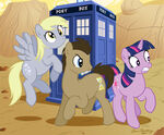Derpy Hooves Doctor Whooves Tardis Twilight Sparkle
