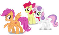 Cutie Mark Crusaders by GlamourKat
