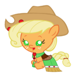 Baby applejack in a gala dress