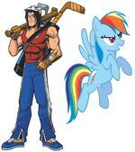 Casey Jones and Rainbow Dash