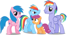 Rainbow dash's family by hampshireukbrony