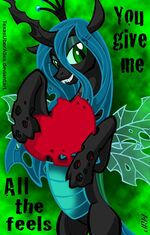 Queen Chrysalis in Happy Valentine Day bu artist-texasuberalles