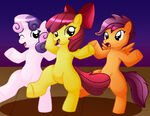 The Cutie Mark Crusaders dancing