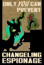 Changeling Chrysalis duplicate element of magic propaganda by PixelKitties