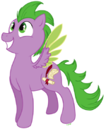 Spike pony by c-puff
