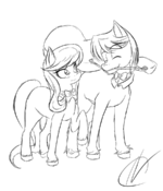 Octavia and Fred Rough Sketch by NarbeVoguel