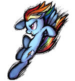Rainbow Dash character art no background Fighting is Magic