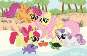 Ponies on the Beach by sakurakaijuu
