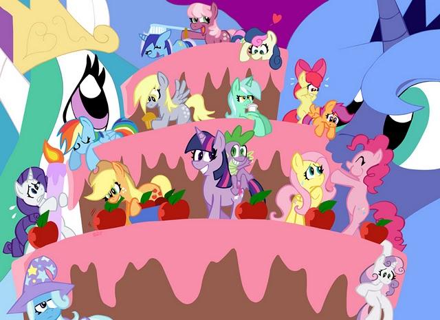 meet the ponies pinkie pie party cake