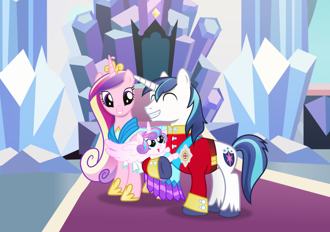Image Shining armor cadance and