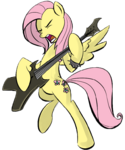 Metal Fluttershy by RainbowDerpy