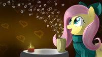 Fluttershy Valentine Day wallpaper by artist-pon-ea