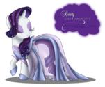 Rarity Gala Fashion Dress by artist-selinmarsou