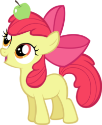 Apple Bloom with an Apple