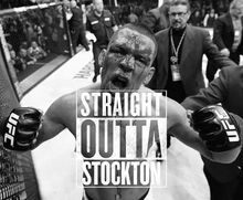 Nate Diaz after submitting Conor McGregor.