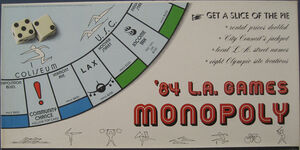 Monopoly 84 LA Games box
