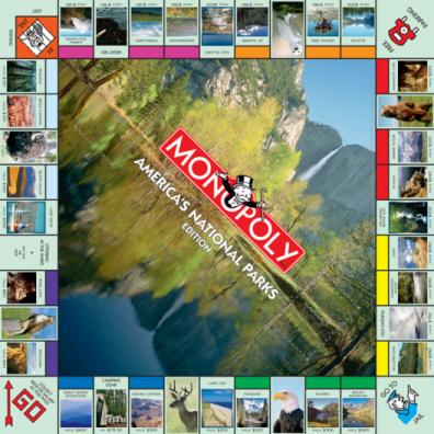 Monopoly Americas National Parks Edition board