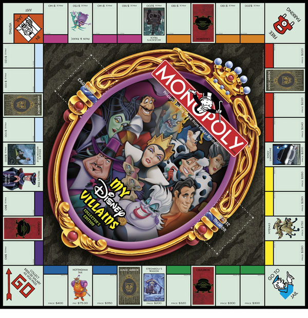 Monopoly My Disney Villains Collectors Edition board