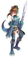 Lizardman blue